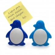 143-6 prendedor recados pinguim azul