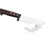 Afiador de facas branco com faca sem fundo