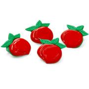 Prendedor morango vermelhos