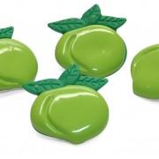 cj com 4 prendedores de embalagem mod maçã verde